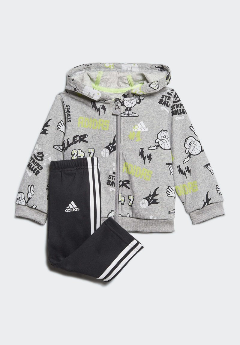 adidas Performance - FRENCH TERRY GRAPHIC TRACKSUIT - Tracksuit - grey