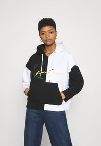 Karl Kani - SIGNATURE BLOCK HOODIE - Sweatshirt - black - 0