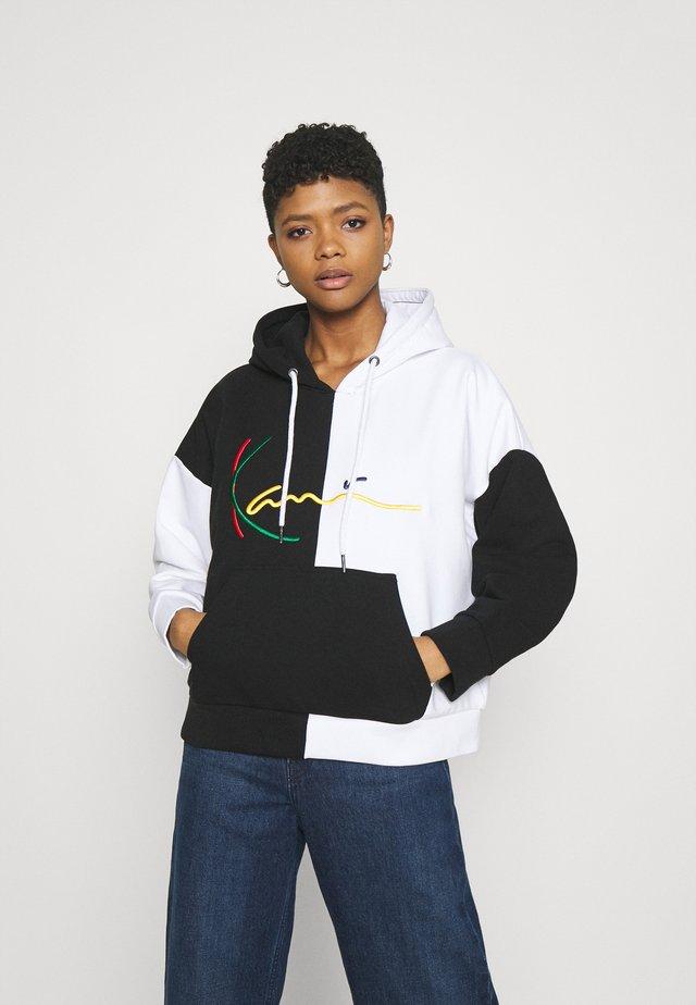 SIGNATURE BLOCK HOODIE - Sweater - black