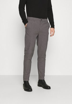 SLHSLIMTAPERED OREGON ANK PANTS - Tygbyxor - grey