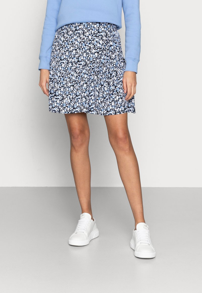 Lindex - SKIRT HILDA - Mini skirt - light dusty blue