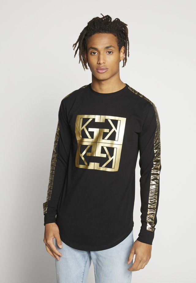 MONOGRAM LONG SLEEVE TEE - Print T-shirt - black