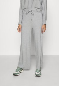 Even&Odd - SET STRICK - Jumper & Wide leg trouser - Svetr - mottled light grey - 4