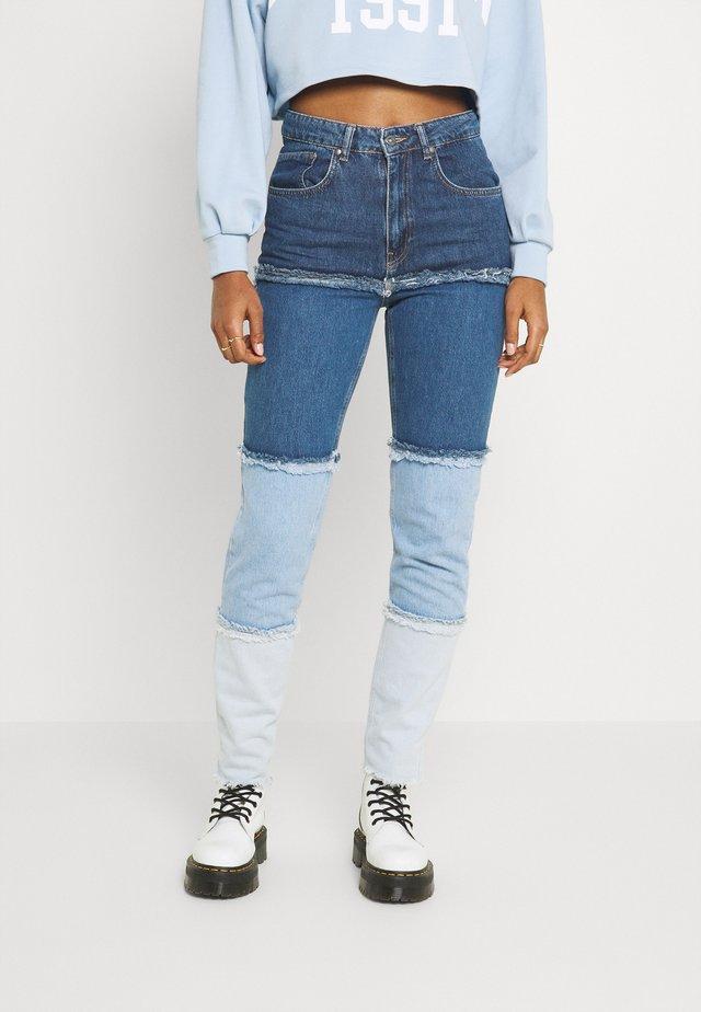 OMBRE MOM - Straight leg jeans - indigo/mid/light blue/stonewash