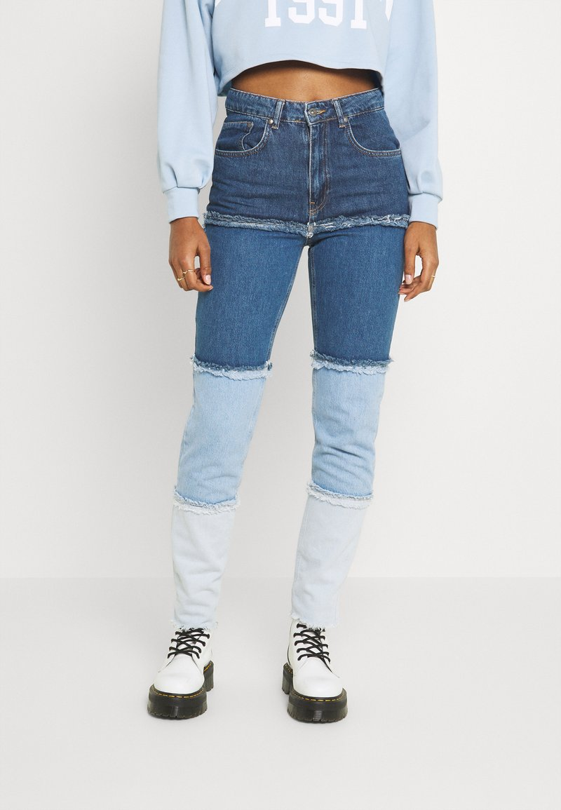 The Ragged Priest - OMBRE MOM - Jeans straight leg - indigo/mid/light blue/stonewash