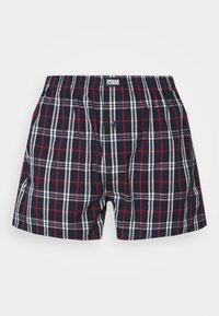 Urban Classics - WOVEN PLAID DOUBLE 2 PACK - Boxershort - red/navy - 2