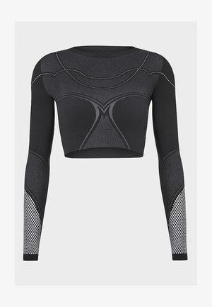 Long sleeved top - black/ash