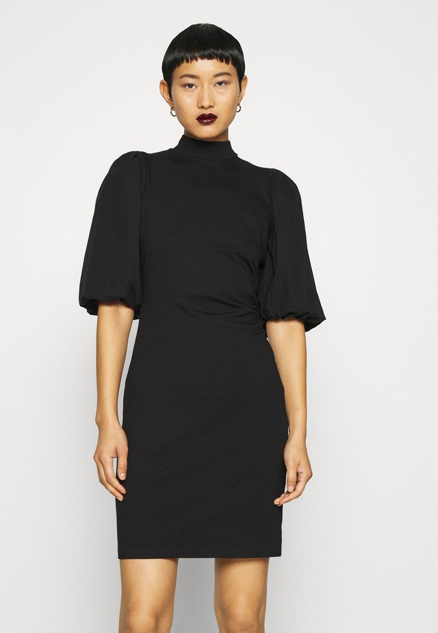 BIMA TURTLENECK DRESS - Vapaa-ajan mekko - black