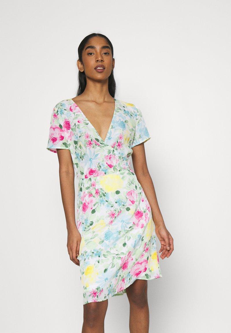 Vila - VIADALINA WRAP DRESS - Day dress - jelly bean