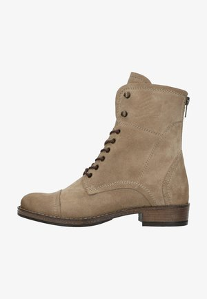 Lace-up ankle boots - taupe