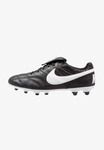 PREMIER II FG - Moulded stud football boots - black/white