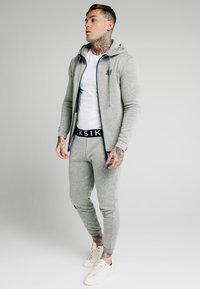 SIKSILK - ELASTIC JACQUARD ZIP THROUGH HOODIE - Felpa con zip - grey - 1