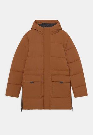 TEEN - Zimní kabát - copper brown