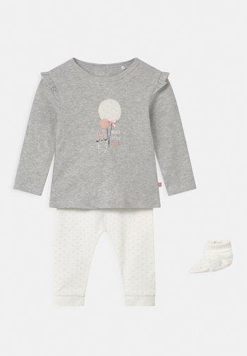 SET - Leggings - Trousers - grey/white