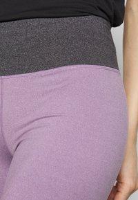 Cotton On Body - SO SOFT SHORT - Leggings - concrete marle/faded grape marle - 4