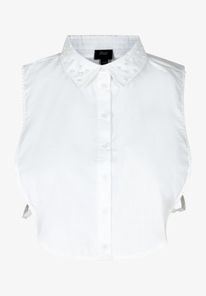 PEARLS - Button-down blouse - white