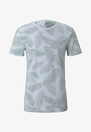MIT PALMENPRINT - Print T-shirt - mint