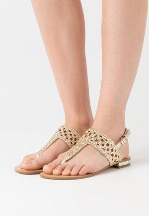 HOSIRIS - T-bar sandals - or