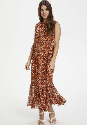 Maxi dress - texture print, sunburn