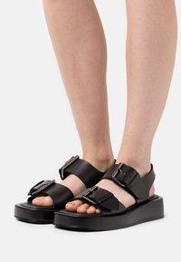 Zign - Platform sandals - black - 0