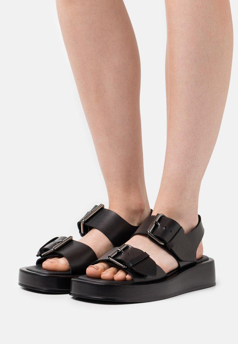 Zign - Platform sandals - black
