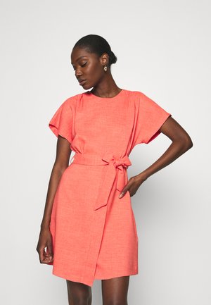 WRAP SKIRT MINI DRESS - Korte jurk - orange