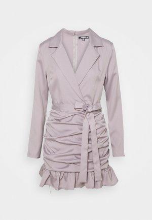 RUCHED FRILL BLAZER DRESS - Cocktail dress / Party dress - grey