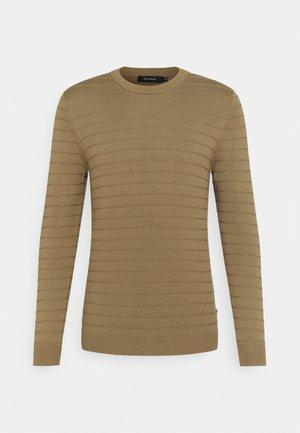 LEON - Stickad tröja - khaki