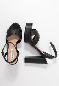 Even&Odd Wide Fit - LEATHER - Sandaler med høye hæler - black - 3