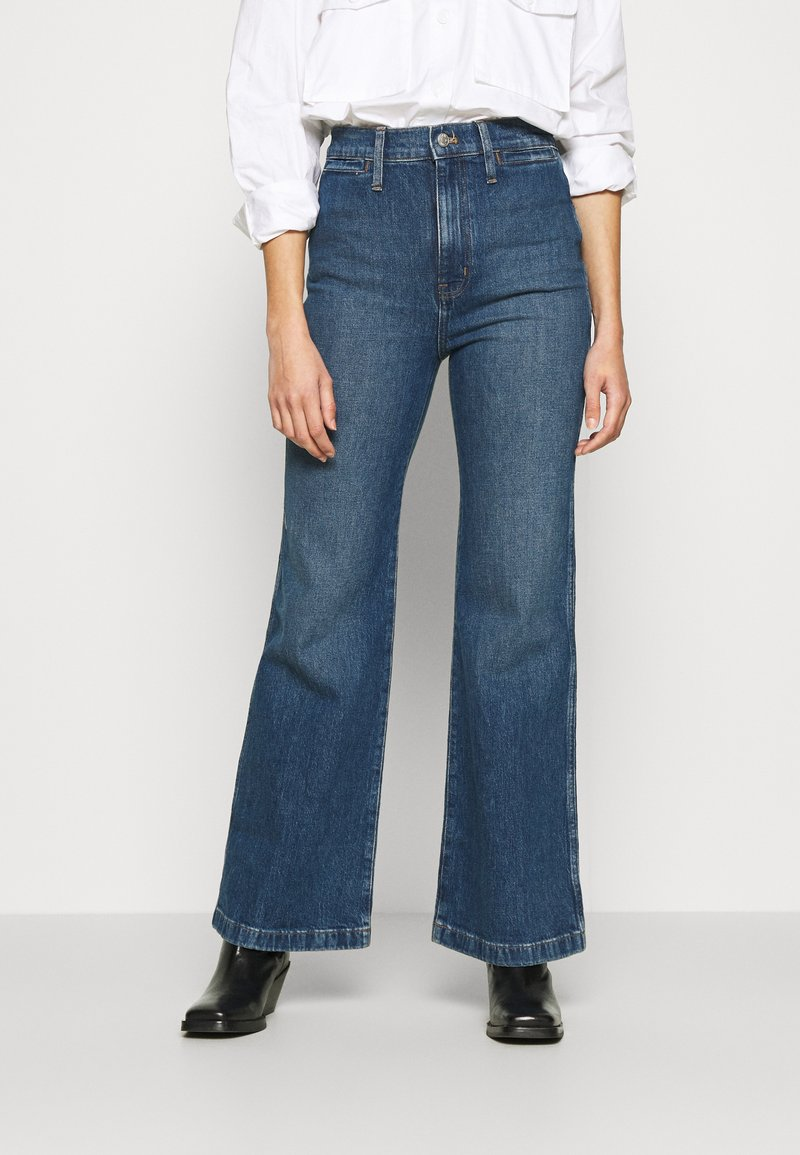 Madewell - LEIGH RETRO - Flared Jeans - mersey