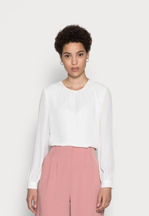 CREW NECK BLOUSES WITH PUFFED SLEEVES - Blůza - off-white