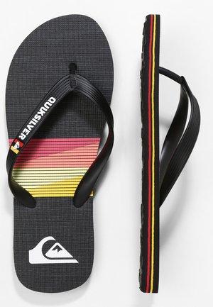 MOLOKAI SEASONS  - Pool shoes - black/red/black