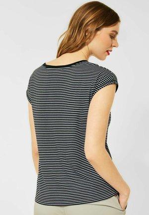 MIT STREIFEN - Print T-shirt - schwarz
