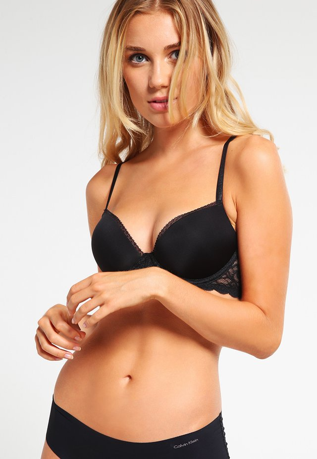 DEMI - Sujetador push-up - black