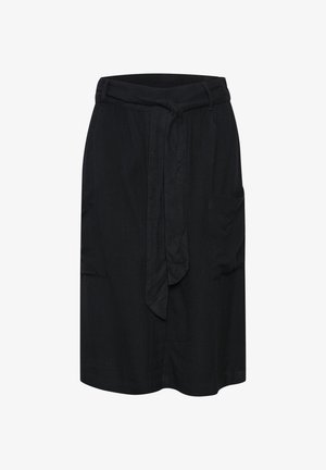 KAIDA - A-line skirt - black deep