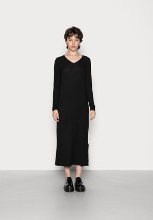 YASWOOLA V NECK LONG DRESS  ICON - Jumper dress - black