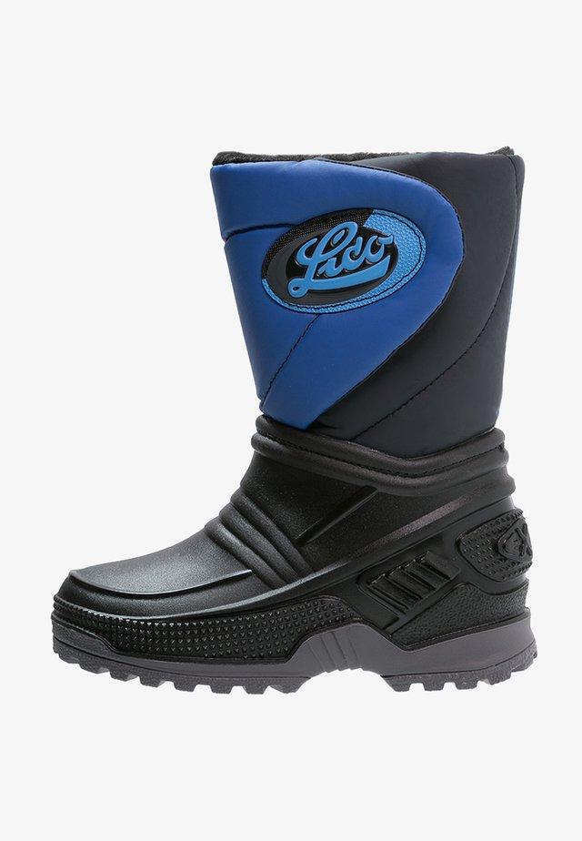 TERRA - Vysoká obuv - schwarz/blau