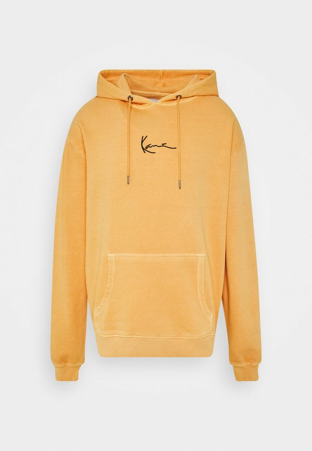 SMALL SIGNATURE WASHED HOODIE UNISEX - Hoodie - yellow