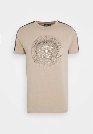 ABILA - T-shirt con stampa - sand