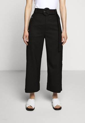 BELTED PANT - Cargo trousers - black