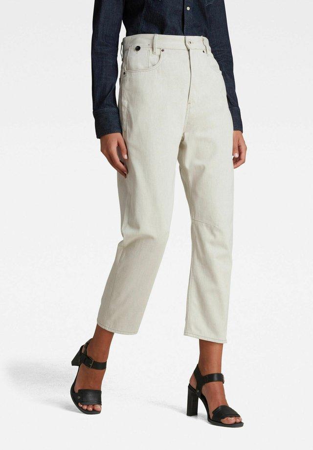 C-STAQ 3D BOYFRIEND CROPPED - Jeans baggy - ecru