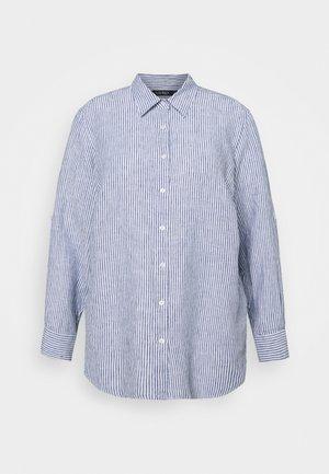 KARRIE LONG SLEEVE - Button-down blouse - blue/white multi