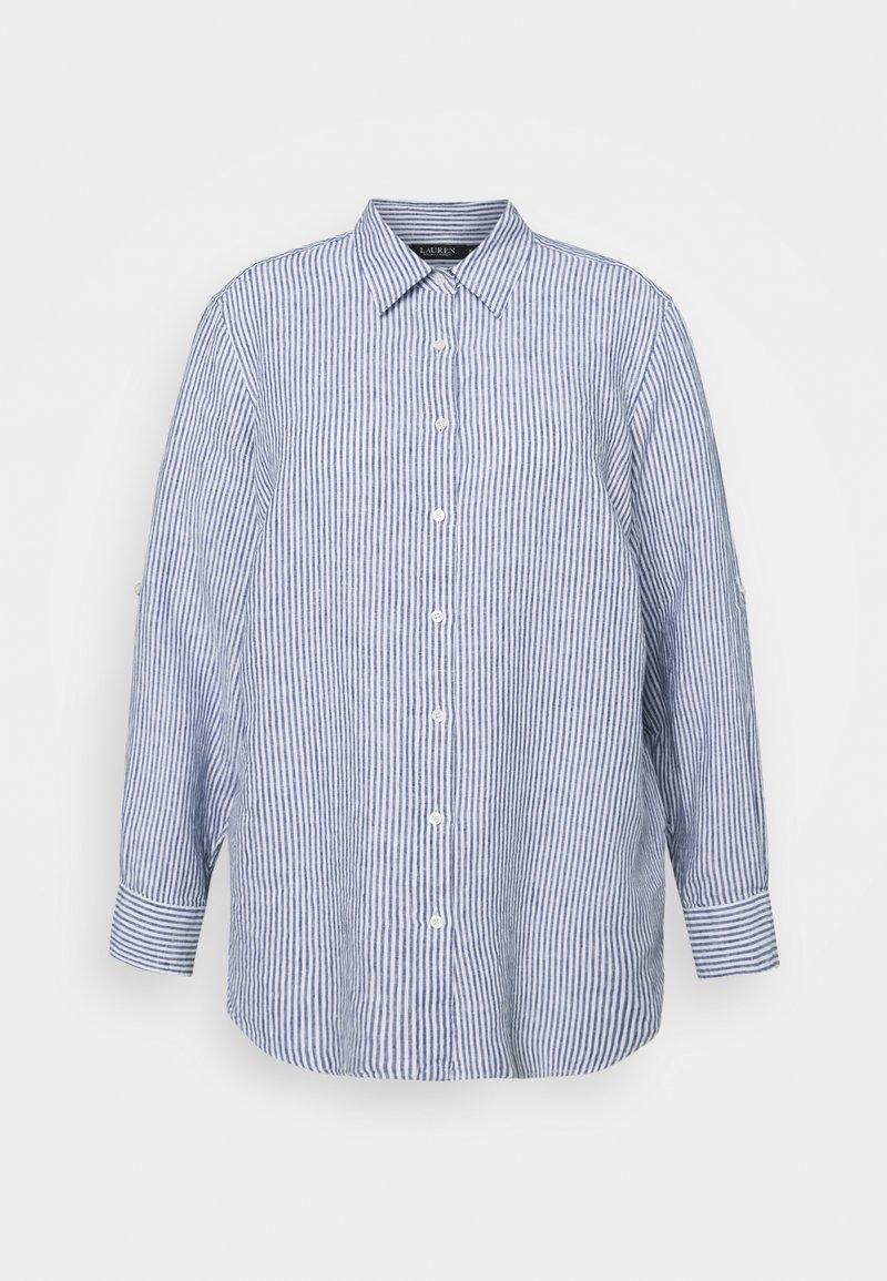 Lauren Ralph Lauren Woman - KARRIE LONG SLEEVE - Button-down blouse - blue/white multi