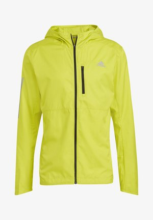 OWN THE RUN HOODED WINDBREAKER - Training jacket - yellow