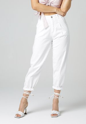 Relaxed fit jeans - weiß