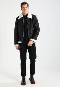 Be Edgy - BEANDREW - Leather jacket - black/white - 1