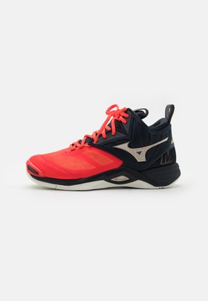 WAVE MOMENTUM 2 MID - Volleyball shoes - ignition red/gold/salute