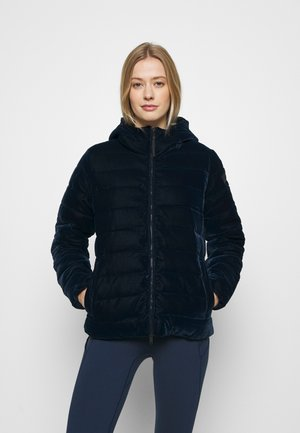 WOMAN JACKET FIX HOOD - Winter jacket - black blue