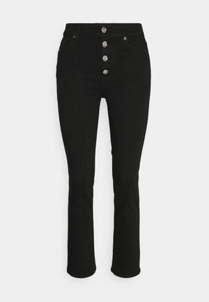 THE STRAIGHT CROP - Straight leg jeans - black