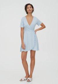 PULL&BEAR - Day dress - light blue - 1